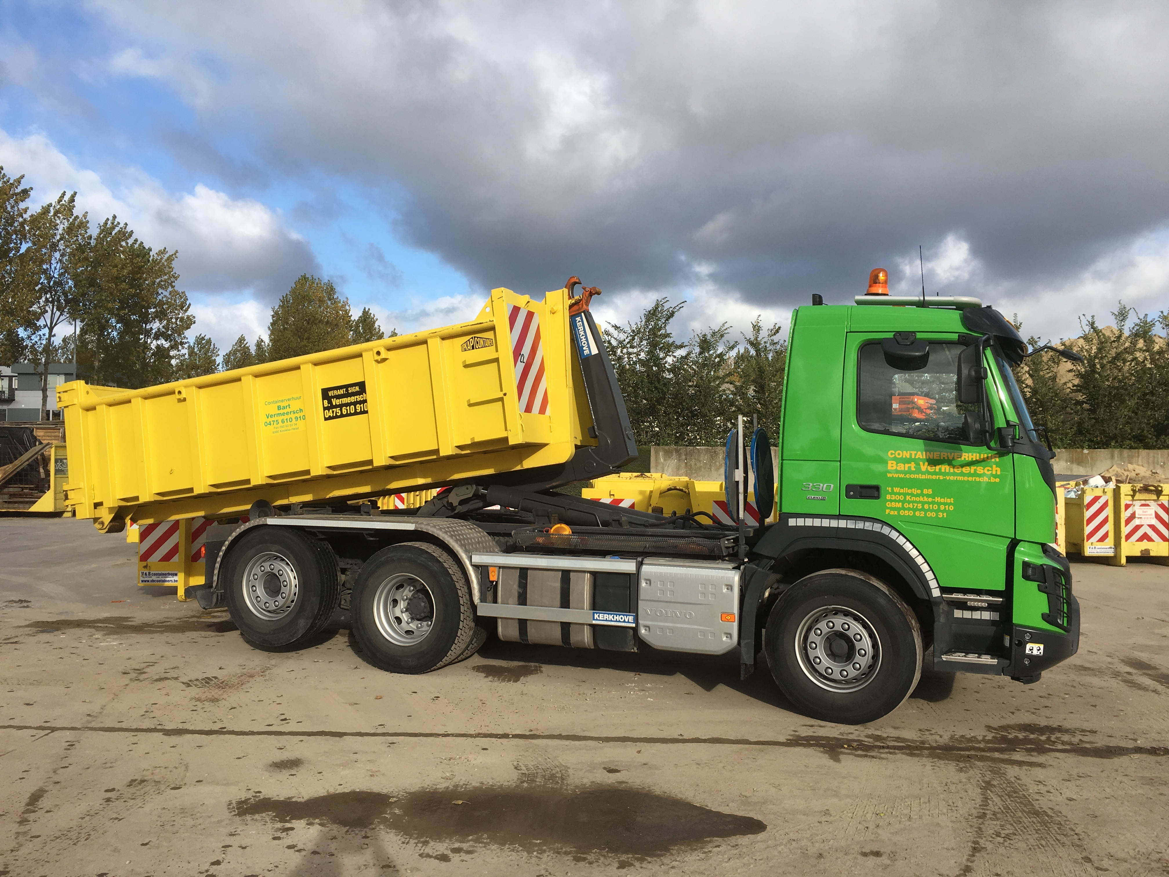 Camion met container